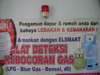 """Koneksi Alarm LPG dan Blue Gas merek """"elSmart"""" dengan Rotary Lamp"""