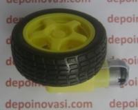 Paket Motor Gearbox Kuning + Roda