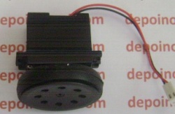 Paket Motor Gearbox Hitam + Roda