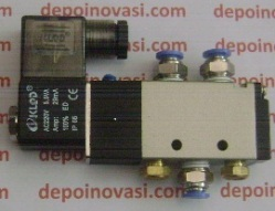 Solenoid Valve Pneumatic 5/2 Single Coil AC 220V