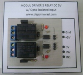 Modul Driver 2 Relay DC 5V w/ Optoisolator