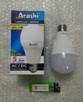 Lampu Emergency Ajaib Led Bulb 11W AC220V Arashi