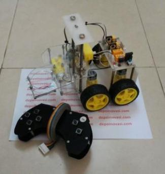 Robot Transporter 4WD Gearbox Kuning
