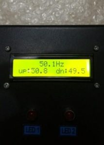 frekuensi meter output 2 relay