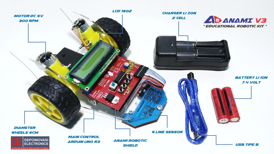 Educational Robotic Kit Anami V3 Lite
