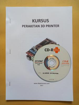 Buku dan CD Kursus Perakitan 3D Printer
